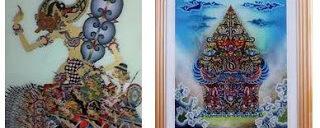 Membuat Lukisan Kaca Khas Cirebon